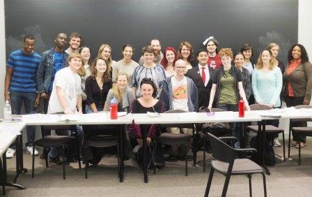 UFS students and Clarkies enjoyed sharing the English capstone seminar class of Associate Professor of English Betsy Huang. (Photo: Andrew Doig '14)