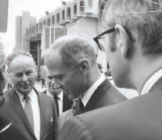 Above: Buzz Aldrin helped cut the ribbon on Clark University's new Robert Hutchings Goddard Library