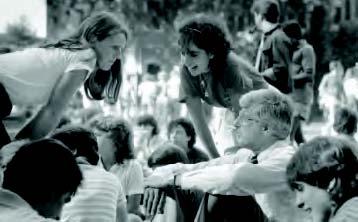 Richard Traina with students