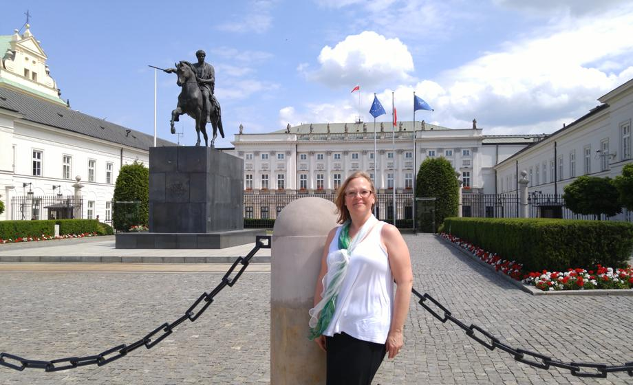Amy Daly Gardner visits the Presidential Palace in Warsaw, Poland.