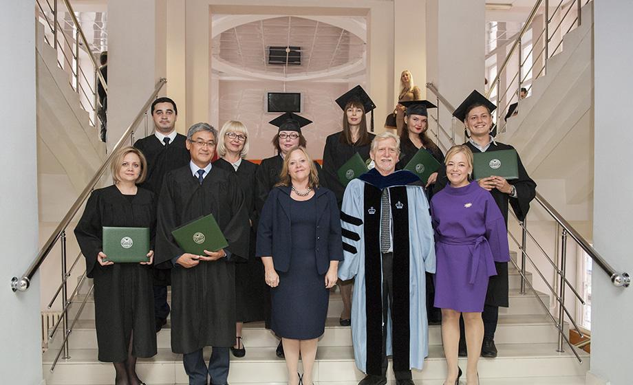 Graduates from Clark University's program in Astrakhan