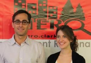 HERO program Director Prof. Colin Polsky and O'Connor HERO Fellow Abby Kaminski '11.