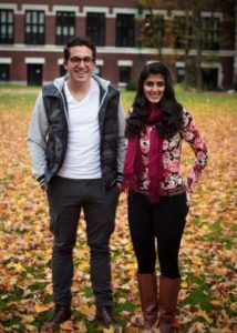 Humans of Clark founders, Jonathan Edelman '16 and Nainika Grover '16