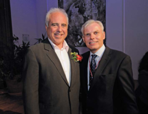 Jeffrey Lurie with Clark President David Angel at the Reunion Dinner.