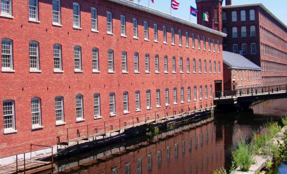 Photo of a mill in Lowell