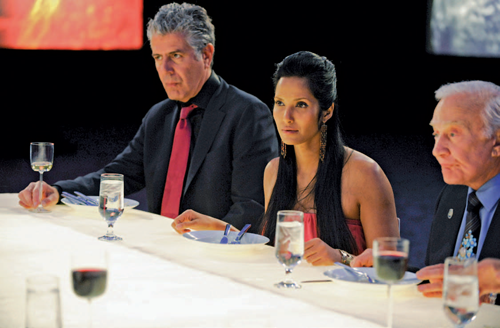 Padma Lakshmi evaluates contestants