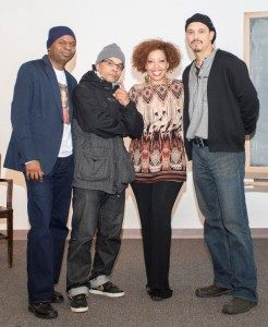 Prof. Rogers (far left) poses with panelists (from left to right) REC McBride, Cosby and Habana Hafner