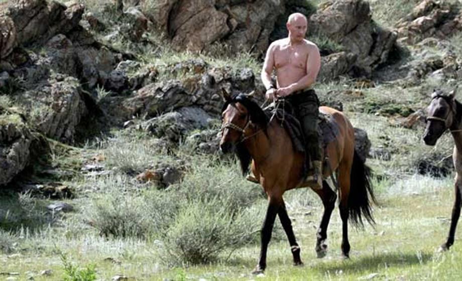 Putin riding horseback