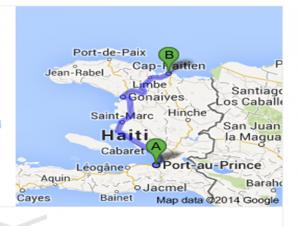 Haiti Trip Map