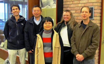 Christopher Williams, assistant professor of geography; Feng Gao, physical scientist at the USDA Agricultural Research Service; Yanmin Shuai, Crystal Schaaf, professor at UMass Boston; and Jeff Masek, NASA research scientist.