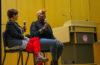 Gia Marie Love speaks to audience as writer/director Sara Jordenö looks on