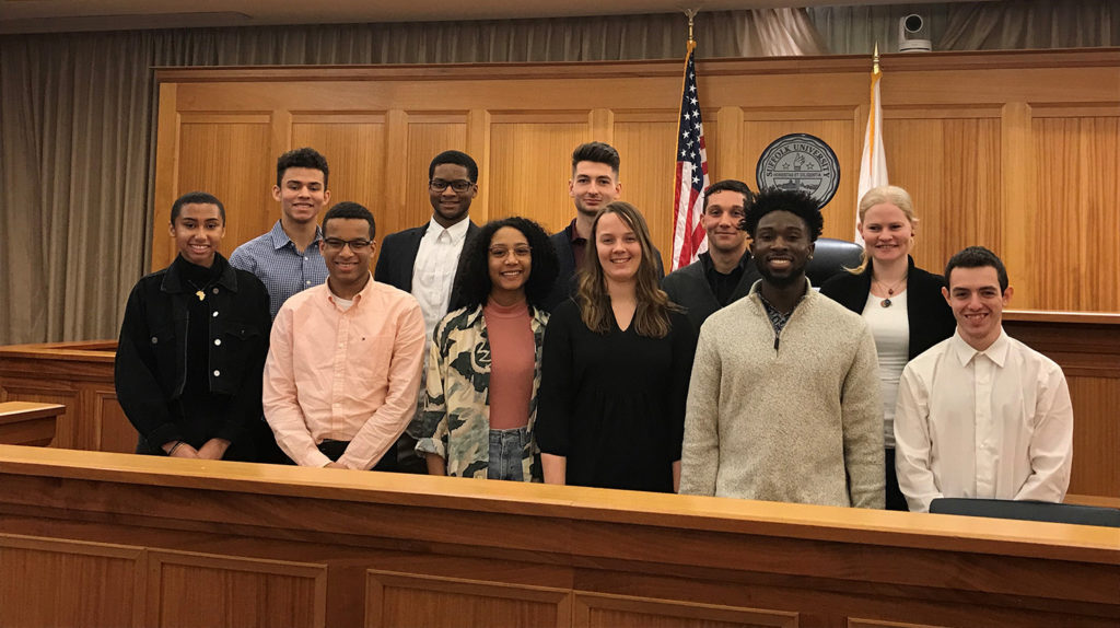 Clark students participate in Massachusetts juror training video