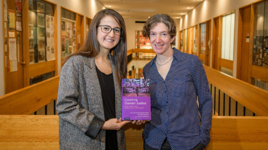 Doctoral candidate Melike Sayoglu and Professor Valerie Sperling,