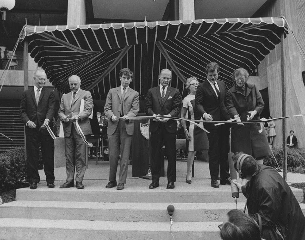 Goddard Library dedication on May 19, 1969