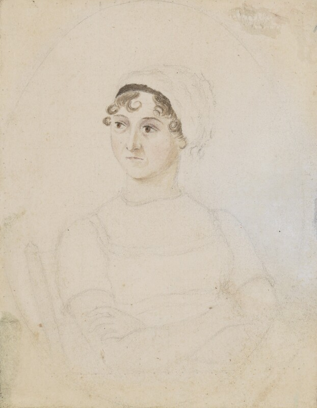 Jane Austen portrait by her sister, Cassandra. © National Portrait Gallery, London