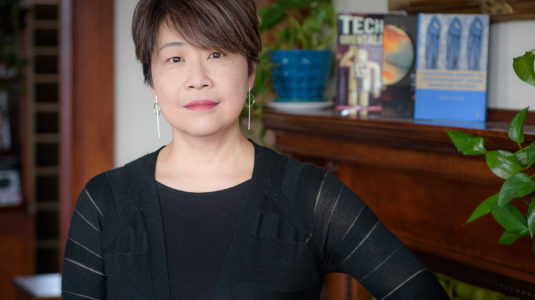 Betsy Huang in Anderson House at Clark University
