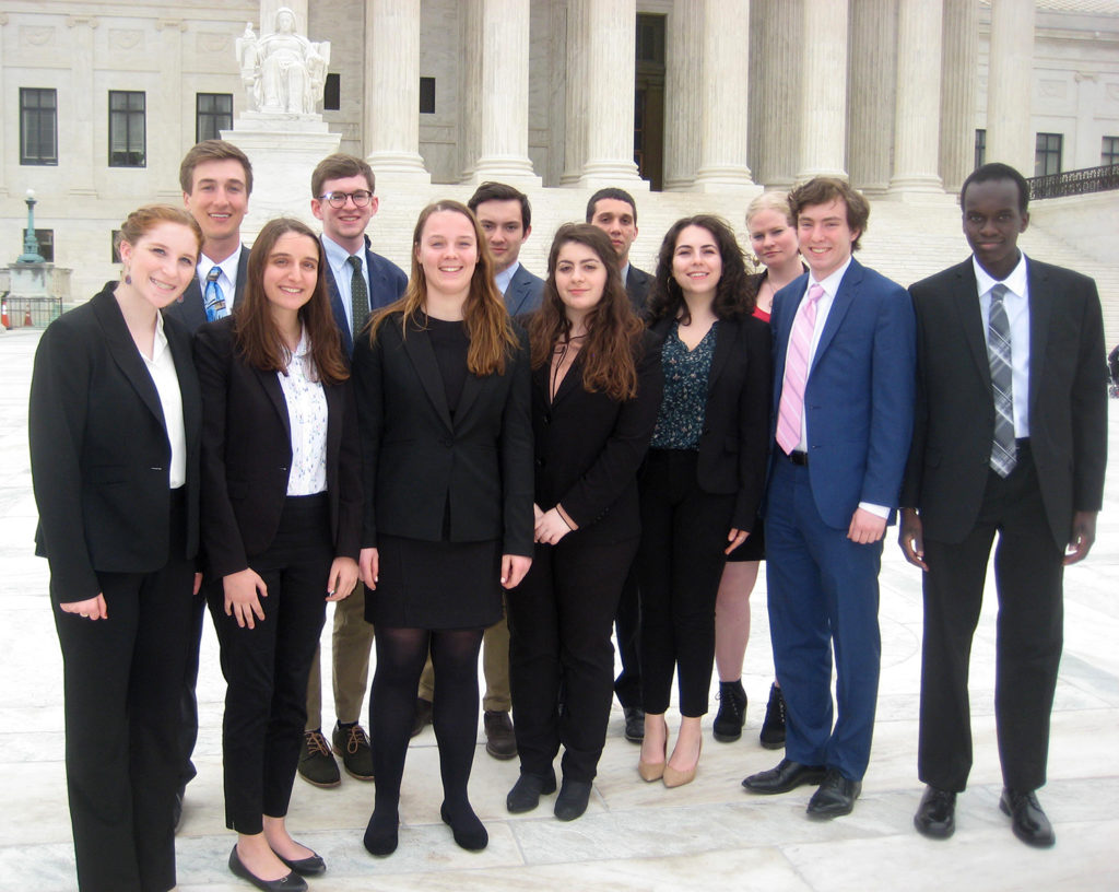 Clark students visit the Supreme Court in Washington, D.C.