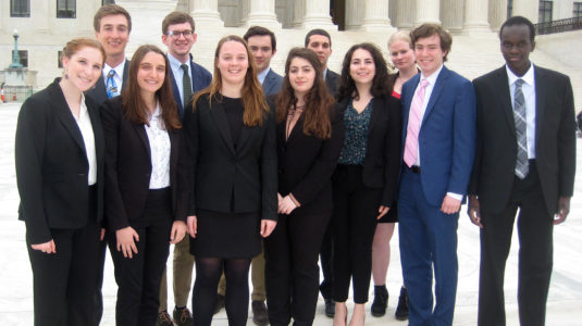 Clark students visit the Supreme Court in Washington, D.C.