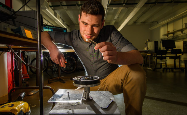 Greg Jones in the physics lab