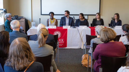 2019 Steinbrecher alumni panel and audience
