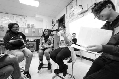 UPCS students discuss classwork