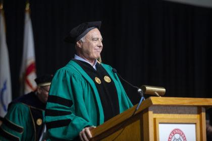 Jeffrey Lurie '73 speaks at Clark University Commencement