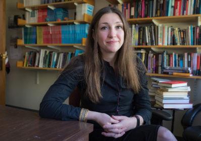 Johanna Vollhardt portrait in office