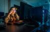 Yeannet Ruiz portrait in the Clark computer lab