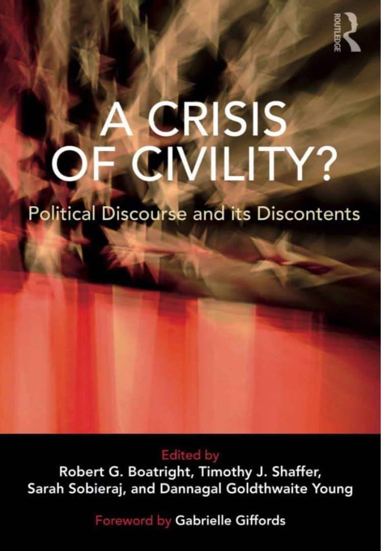 A Crisis of Civility book cover; Robert Boatright, co-author