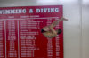 Steve Castiglione '18 diving at Clark University