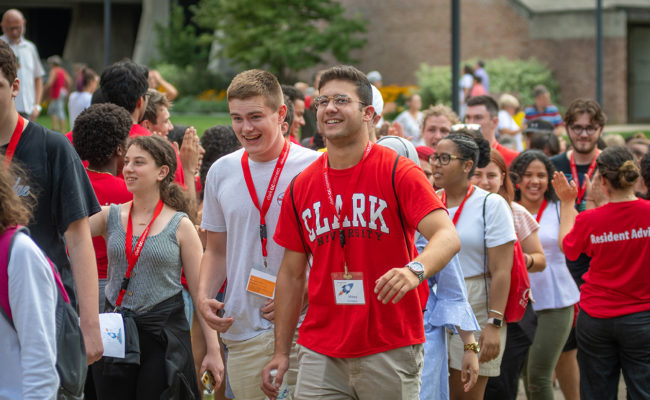 Clark University Class of 2023 on move-in day 2019