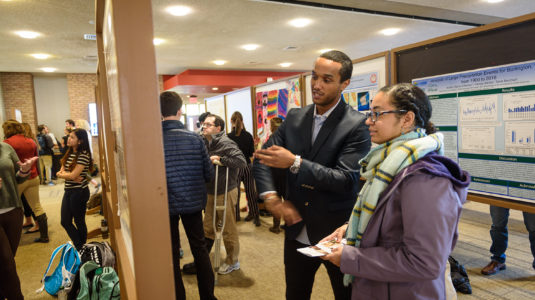 Students present their work at Fall Fes