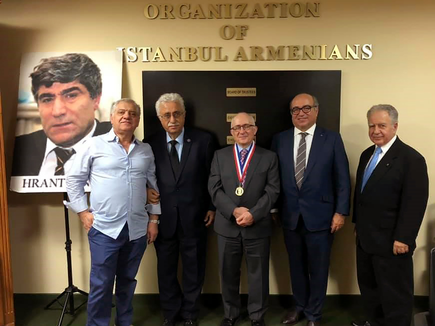 Taner Akcam receives the Vahakn Dadrian Genocide Scholarship Award from the Organization of Istanbul Armenians