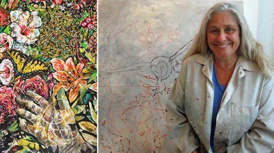 Ellie Crocker and artwork