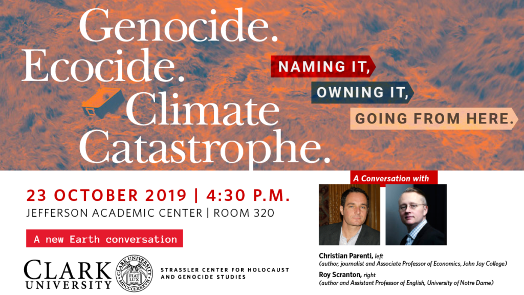 Climate change event poster