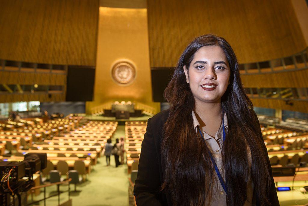 Maha Akbar at the United Nations