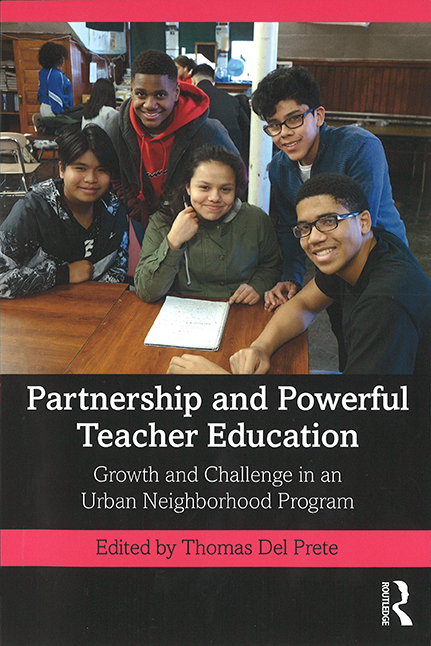 """Book cover of """"Partnership and Powerful Teacher Education"""" by Thomas Del Prete"""