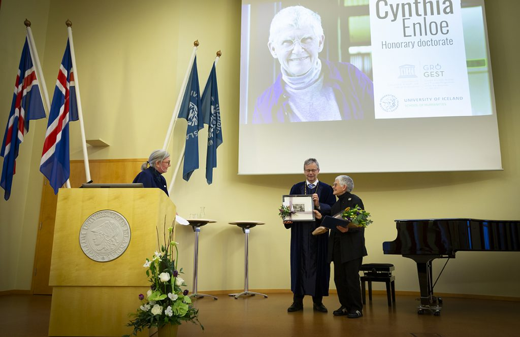 Cynthia Enloe receives honorary doctorate from University of Iceland