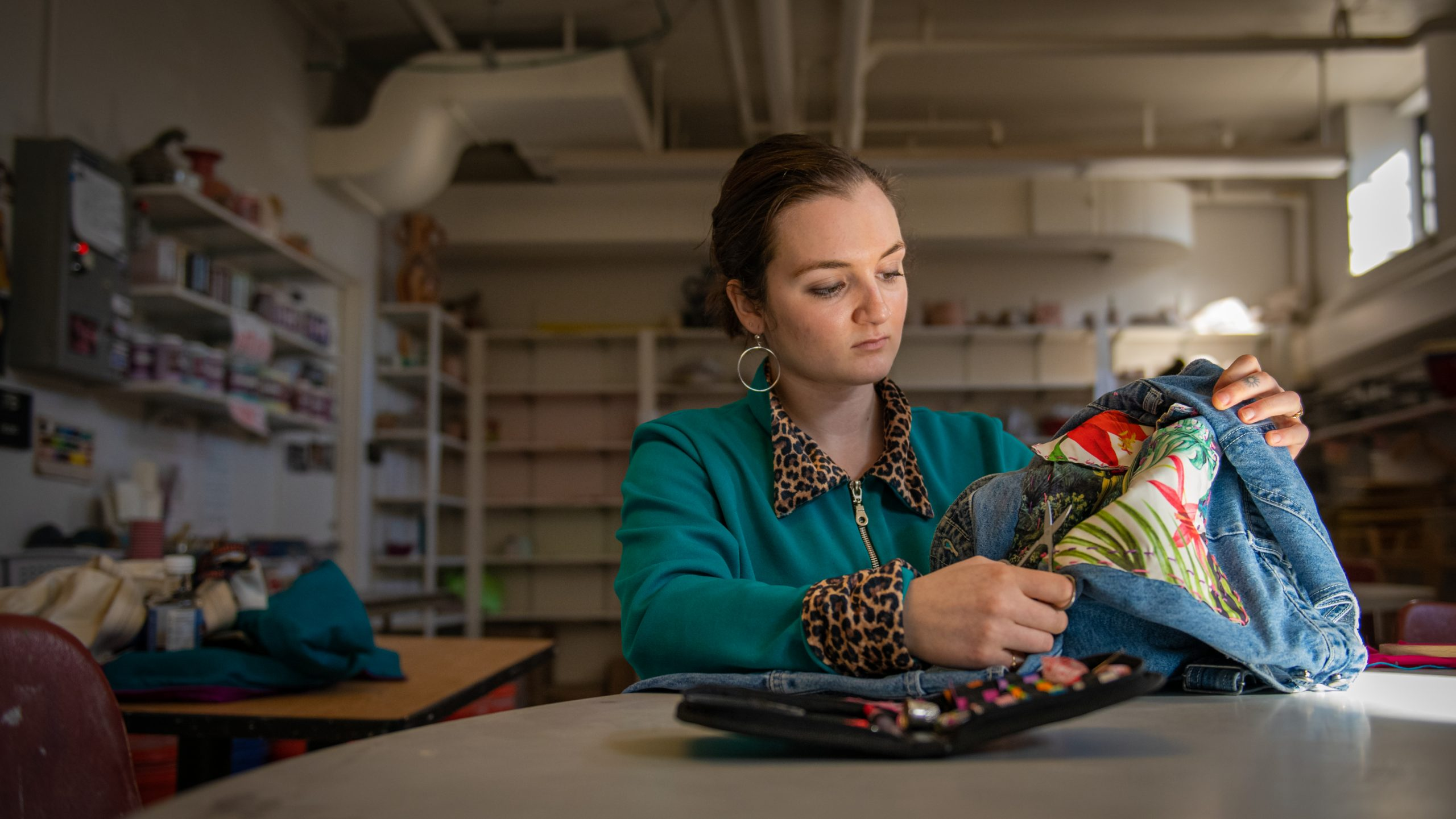 Alli Jutras looks at clothing