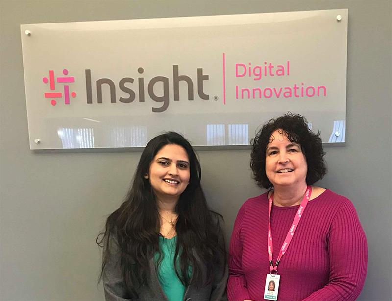 Chandra Adhikari and Beth Wolfset at Insight