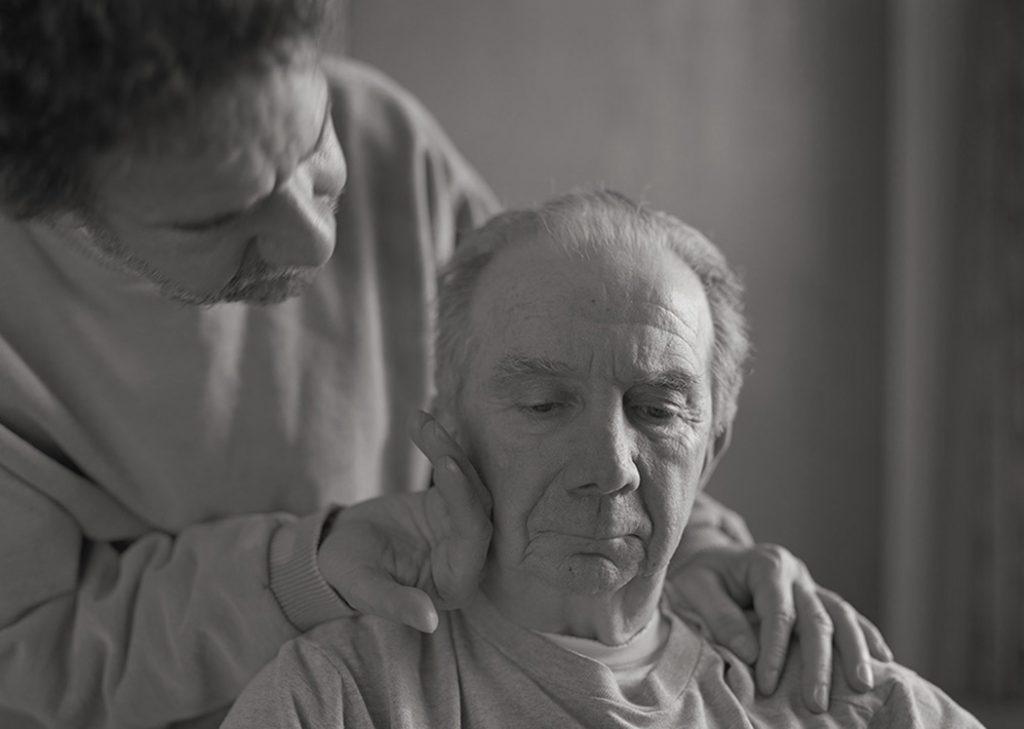 Stephen DiRado and his father, Gene, in 2005