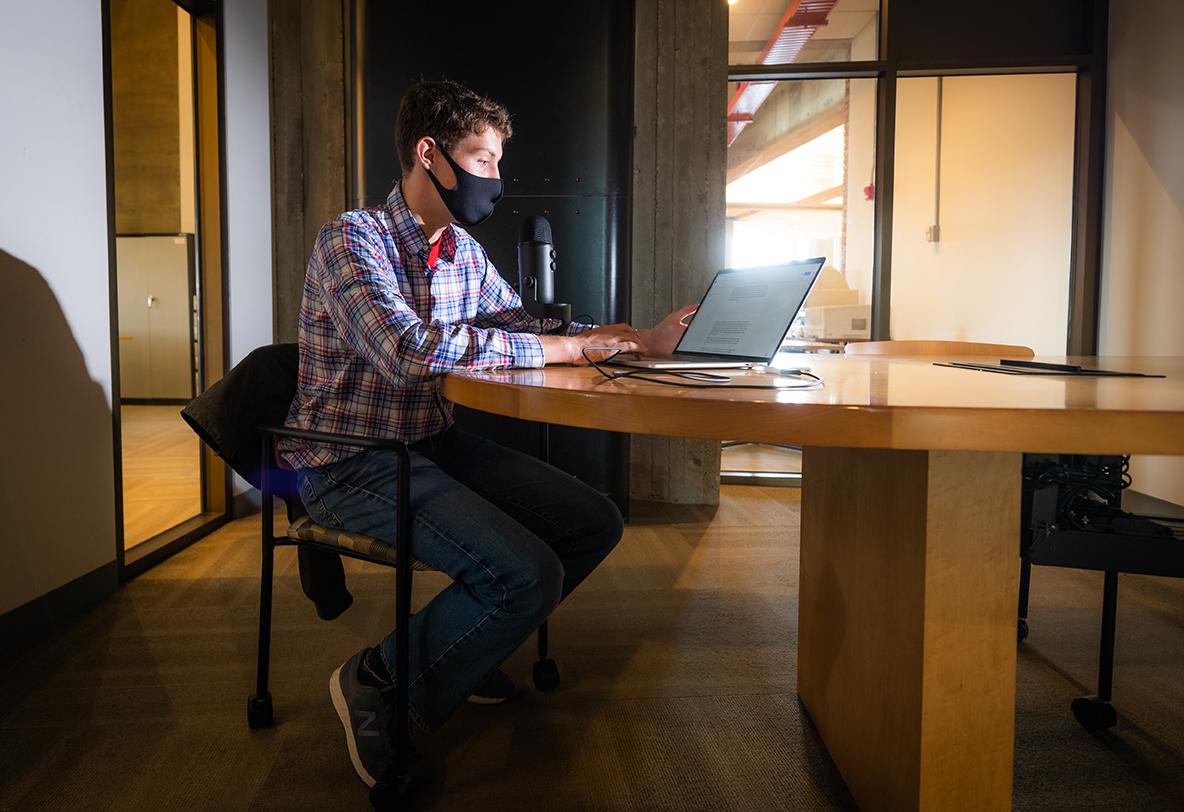 Will Mahan at computer