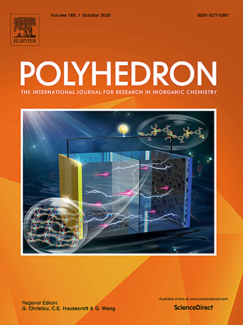 Cover of Polyhedron journal Sept, 1, 2020 issue