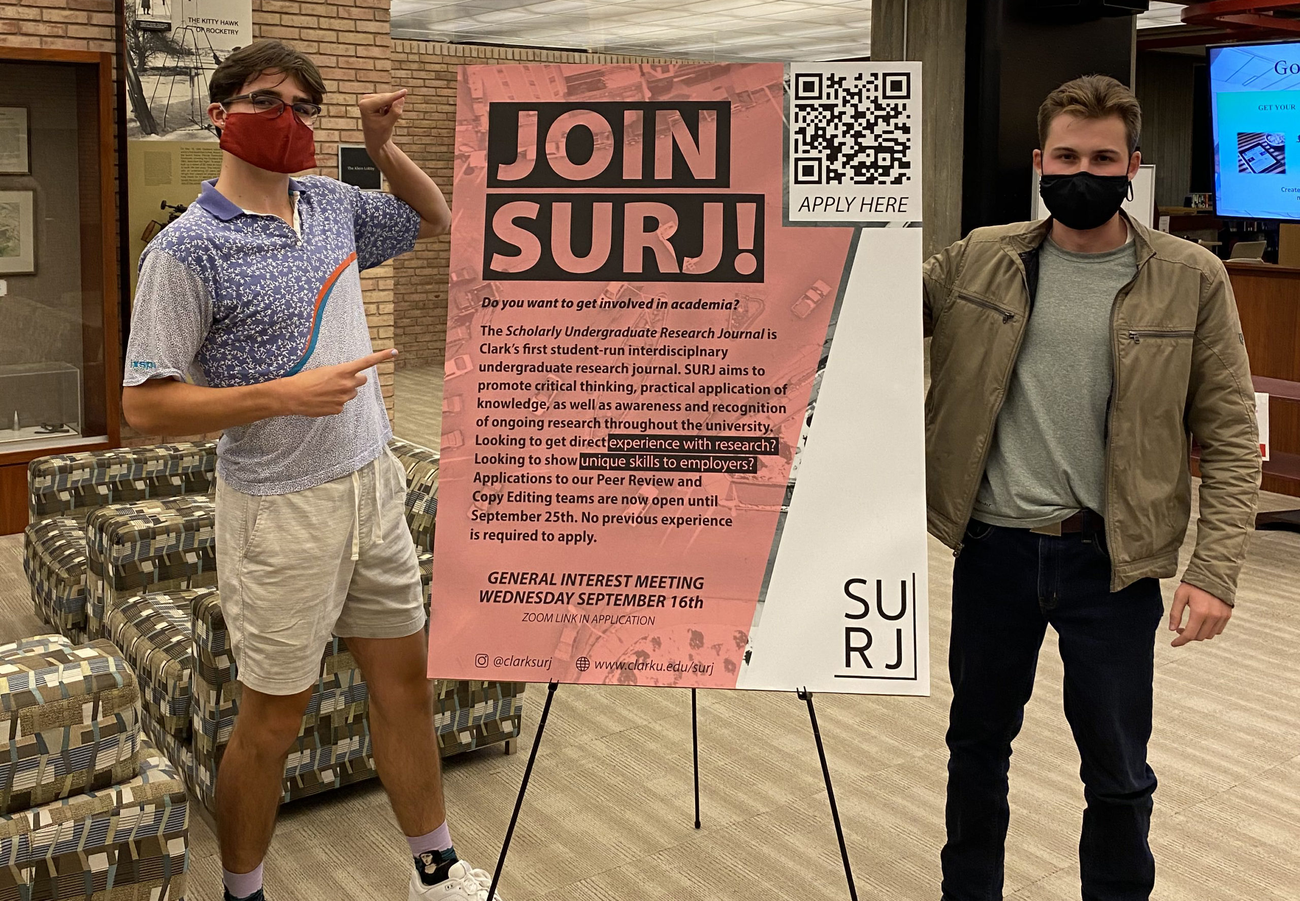 surj members with poster