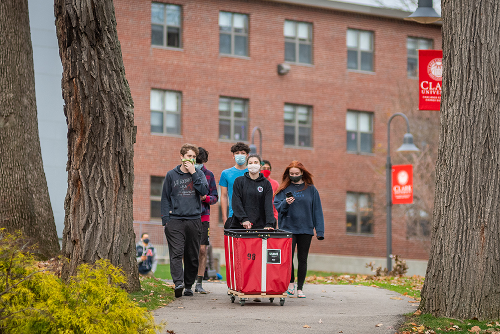 Students move out of Clark residence halls on Nov. 16, 2020