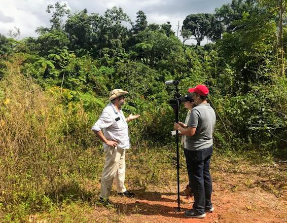 Ramon Borges-Mendez works in the field in Puerto Rico