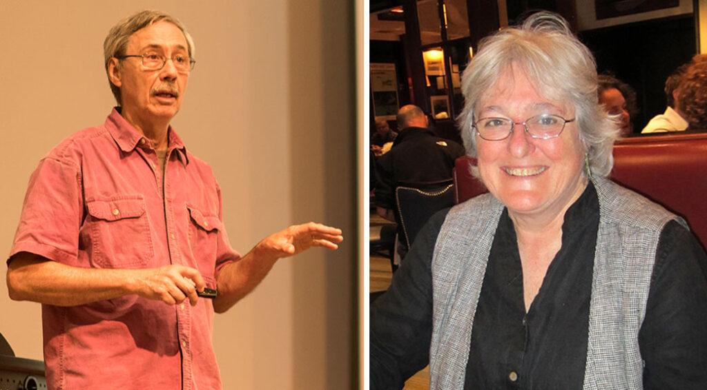 Biology professors John Baker and Susan Foster
