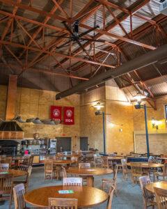 ion-generating fans in higgins cafe