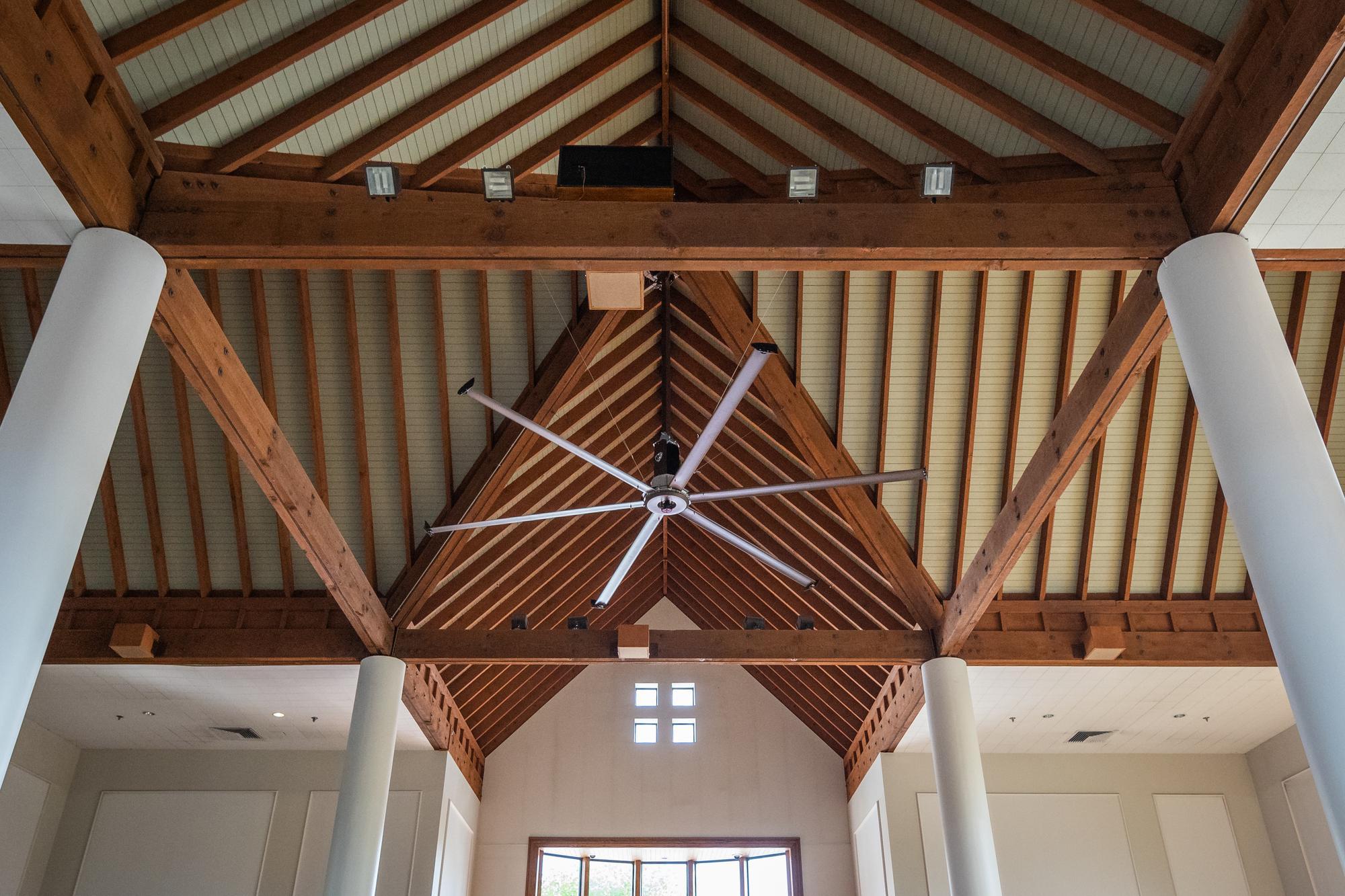ion-generating ceiling fan in Tilton Hall