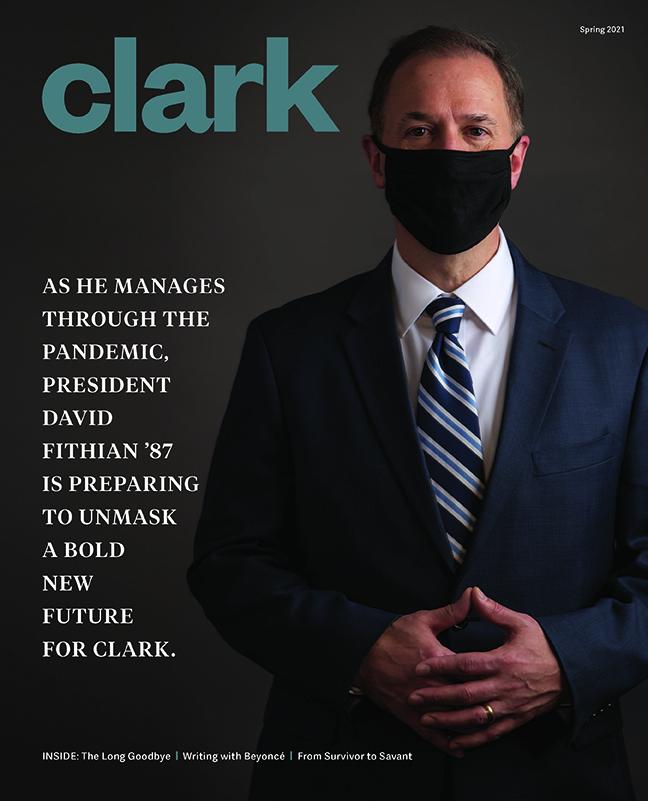 Clark magazine cover, spring 2021